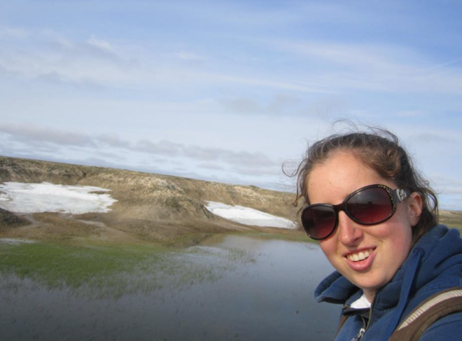 Elyssa, hanging out in Nunavut.