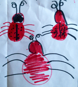 Kids like bugs. And they like to draw them.