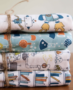 Organic Quilt Company - new spring collection with a bit of a science theme. You can follow that fine business on twitter, too.
