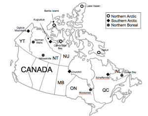 Here's where the Northern Biodiversity Program took our field teams!