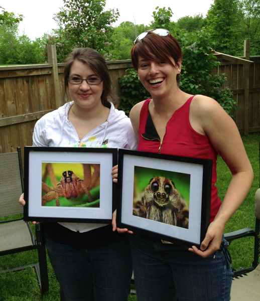 Katie Sim (l) and Sarah Loboda (r) - successful MSc students!