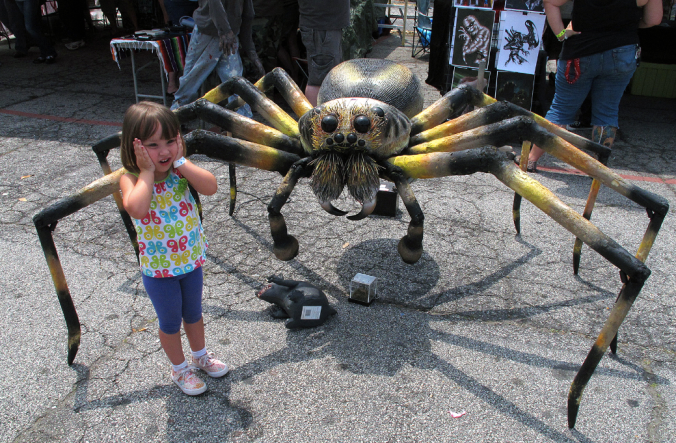 The giant spider sculpture!