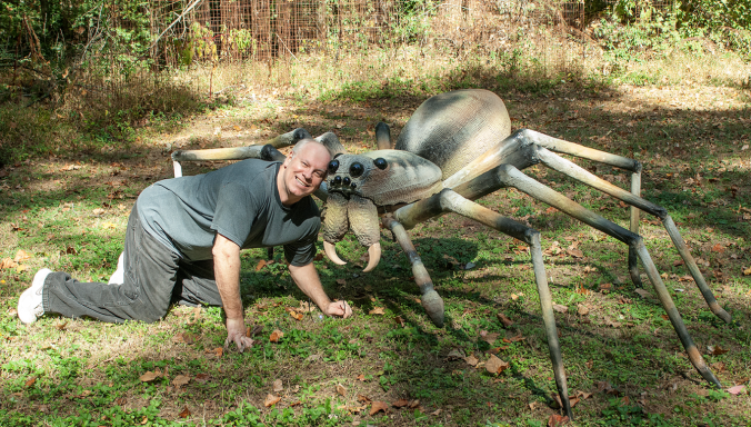Don and his spider friend.