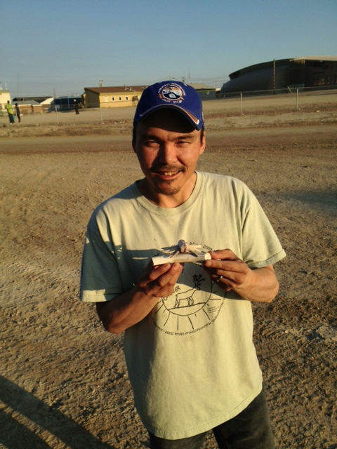 The artist: Johnny Udlaoyak Jr., of Cambridge Bay, Nunavut.