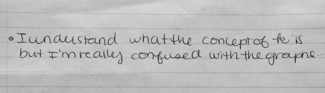"Here's a ""muddy"" - this student's comment reflects a common concern around how I teach some of the content."