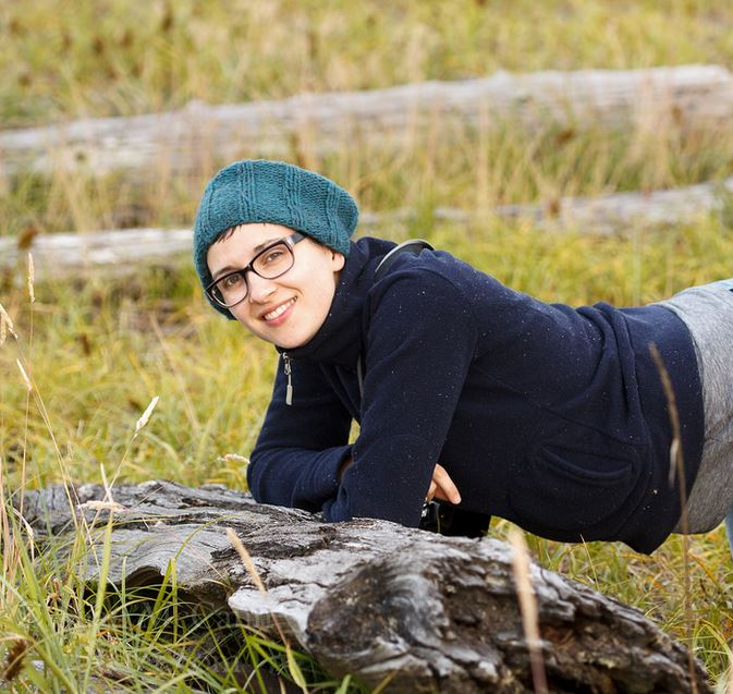 Meet Catherine! She's an Arachnologist, and is searching for spiders... Photo by Sean McCann
