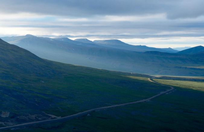 A stretch of the Dempster Highway