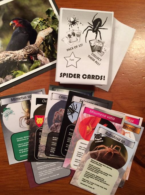 Collectors cards, Arachnid style.