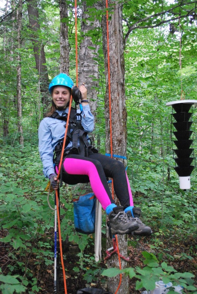 Jessica - getting ready to climb up!